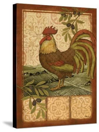 Tuscan Rooster I-Paul Brent-Stretched Canvas Print