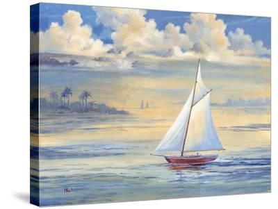 Bay of Palms-Paul Brent-Stretched Canvas Print