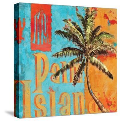 Rojo Palm II-Paul Brent-Stretched Canvas Print