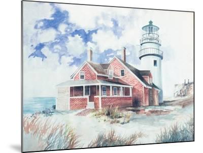 Cape Cod Light House-Gregory Gorham-Mounted Art Print