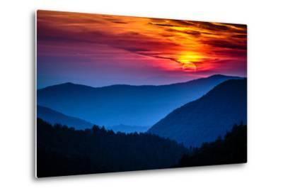 Great Smoky Mountains National Park Scenic Sunset Landscape Vacation Getaway Destination - Gatlinbu-Weidman Photography-Metal Print