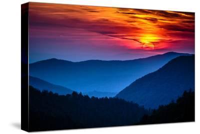 Great Smoky Mountains National Park Scenic Sunset Landscape Vacation Getaway Destination - Gatlinbu-Weidman Photography-Stretched Canvas Print