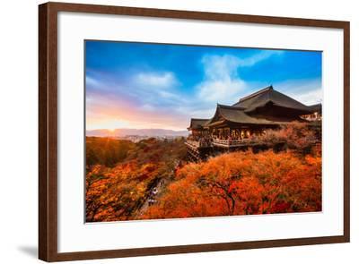 Autumn Color at Kiyomizu-Dera Temple in Kyoto, Japan-Luciano Mortula - LGM-Framed Photographic Print