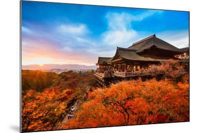 Autumn Color at Kiyomizu-Dera Temple in Kyoto, Japan-Luciano Mortula - LGM-Mounted Photographic Print