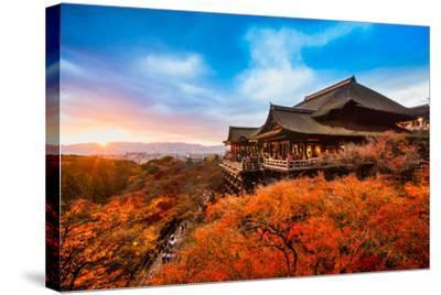 Autumn Color at Kiyomizu-Dera Temple in Kyoto, Japan-Luciano Mortula - LGM-Stretched Canvas Print