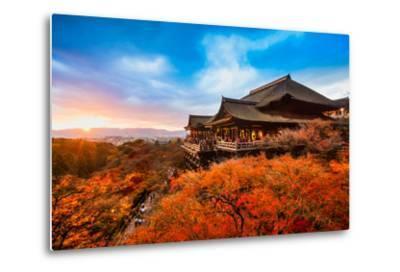 Autumn Color at Kiyomizu-Dera Temple in Kyoto, Japan-Luciano Mortula - LGM-Metal Print