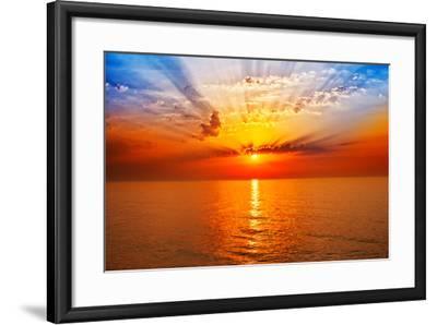 Sunrise in the Sea-merydolla-Framed Photographic Print