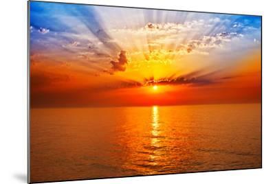 Sunrise in the Sea-merydolla-Mounted Photographic Print