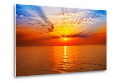 Sunrise in the Sea-merydolla-Metal Print