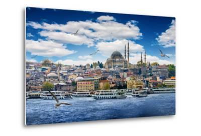 Istanbul the Capital of Turkey, Eastern Tourist City.- seqoya-Metal Print