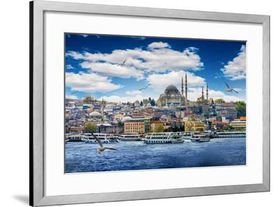 Istanbul the Capital of Turkey, Eastern Tourist City.- seqoya-Framed Photographic Print