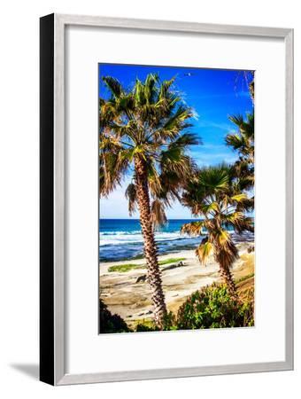 La Jolla Palms II-Alan Hausenflock-Framed Photo