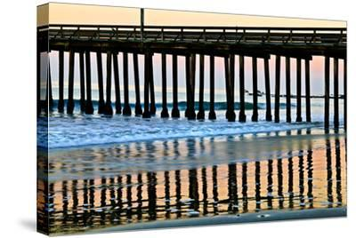 Pier Silhouette II-Lee Peterson-Stretched Canvas Print
