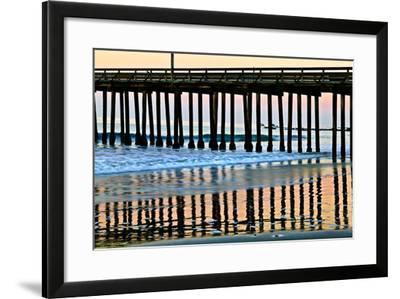 Pier Silhouette II-Lee Peterson-Framed Photo