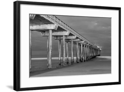 Scripps Pier BW I-Lee Peterson-Framed Photo