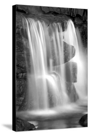 Sunset Waterfall II BW-Douglas Taylor-Stretched Canvas Print