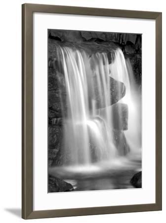 Sunset Waterfall II BW-Douglas Taylor-Framed Photo
