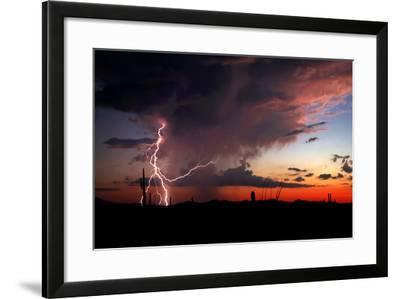 Twilight Lightning I-Douglas Taylor-Framed Photo