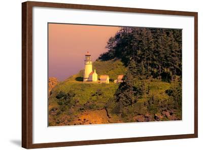 Heceta Head Lighthouse-George Johnson-Framed Photo