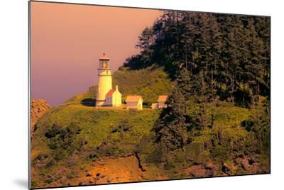 Heceta Head Lighthouse-George Johnson-Mounted Photo