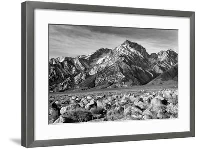 Mt Williamson II BW-Douglas Taylor-Framed Photo