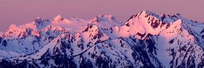 Alpenglow on Mt Olympus-Douglas Taylor-Framed Photo