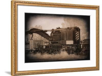Work Train-George Johnson-Framed Photo