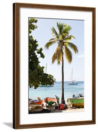 Caribbean Boats V-Karyn Millet-Framed Photo