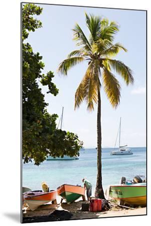 Caribbean Boats V-Karyn Millet-Mounted Photo