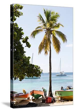 Caribbean Boats V-Karyn Millet-Stretched Canvas Print