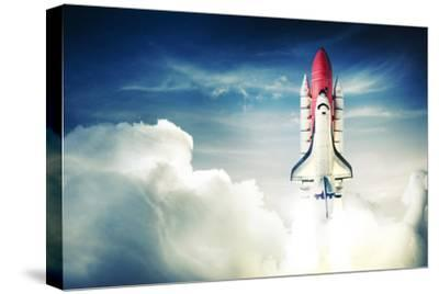 Space Shuttle Taking off on a Mission-Fer Gregory-Stretched Canvas Print