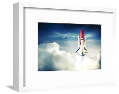 Space Shuttle Taking off on a Mission-Fer Gregory-Framed Photographic Print