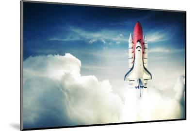 Space Shuttle Taking off on a Mission-Fer Gregory-Mounted Photographic Print