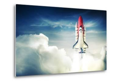 Space Shuttle Taking off on a Mission-Fer Gregory-Metal Print