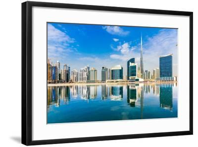 Dubai Skyline, Uae.-Luciano Mortula - LGM-Framed Photographic Print