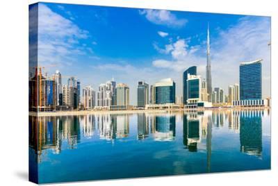 Dubai Skyline, Uae.-Luciano Mortula - LGM-Stretched Canvas Print