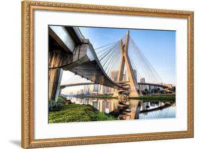 Estaiada Bridge, Sao Paulo, Brazil, South America-Thiago Leite-Framed Photographic Print