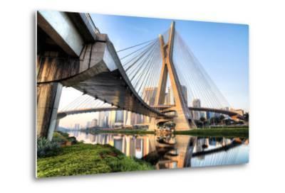 Estaiada Bridge, Sao Paulo, Brazil, South America-Thiago Leite-Metal Print