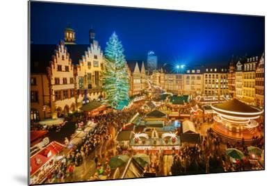 Traditional Christmas Market in the Historic Center of Frankfurt, Germany-S Borisov-Mounted Photographic Print