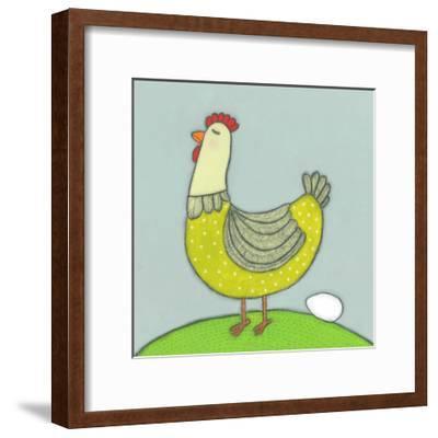 Super Animal - Hen-Tatijana Lawrence-Framed Art Print
