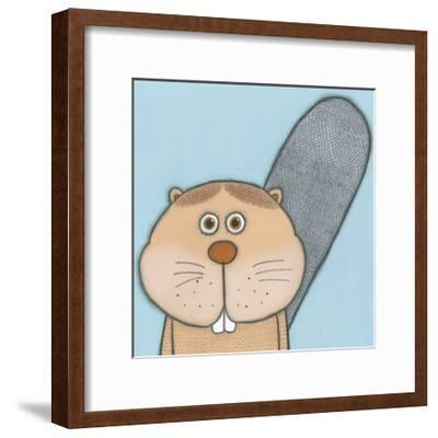 Super Animal - Beaver-Tatijana Lawrence-Framed Art Print
