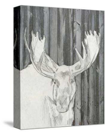 Barnwood Lodge Sketch II-Jennifer Goldberger-Stretched Canvas Print