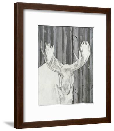 Barnwood Lodge Sketch II-Jennifer Goldberger-Framed Art Print
