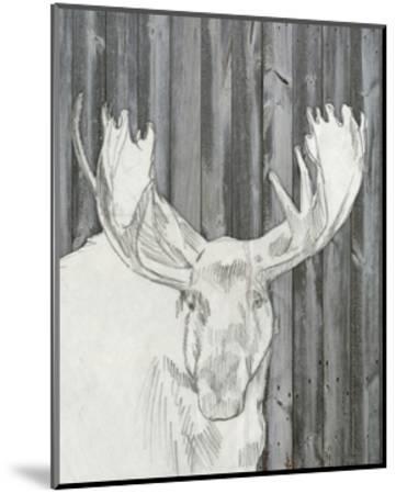 Barnwood Lodge Sketch II-Jennifer Goldberger-Mounted Art Print