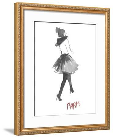 Fashion Week Sketch I-Naomi McCavitt-Framed Art Print