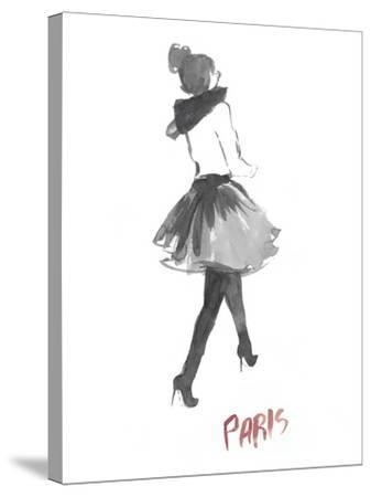 Fashion Week Sketch I-Naomi McCavitt-Stretched Canvas Print