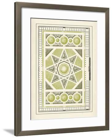 Green Garden Maze VI-J^F^ Blondel-Framed Art Print
