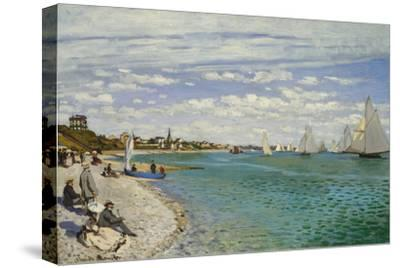 Regatta at Sainte- Adresse-Claude Monet-Stretched Canvas Print