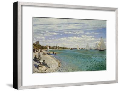Regatta at Sainte- Adresse-Claude Monet-Framed Art Print