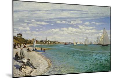 Regatta at Sainte- Adresse-Claude Monet-Mounted Art Print